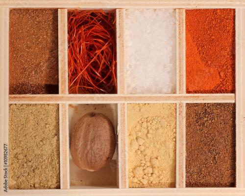 Leinwanddruck Bild Spice box