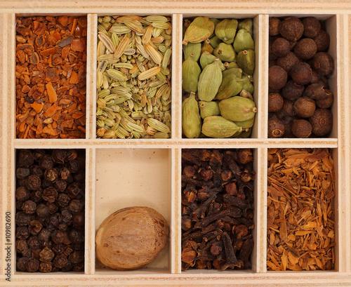Leinwanddruck Bild Spice box II