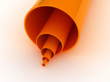Orange Pipes 3D poster