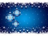 Fototapety Blue Christmas ornaments