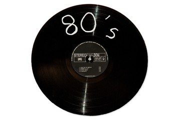 Disque vinyle eighties