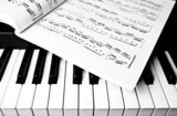 Keyboard and sheet music