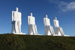 Leinwanddruck Bild - Man meets the Sea, statue in Esbjerg harbour, Denmark