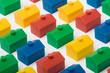 Leinwandbild Motiv Colorful model houses