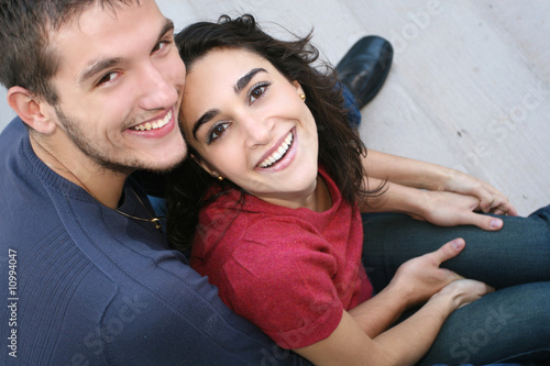 Young Couple in Love, Outdoors