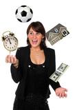 Businesswoman Juggling Responsibilities poster