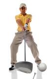 Golf Shot at Impact poster