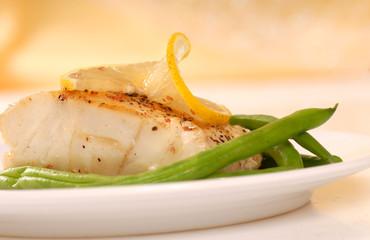Sauted cod filet