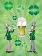 A glass of beer to  St Patrick's Day