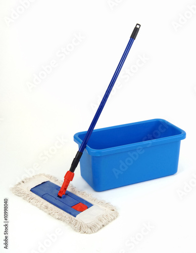 bucket and broom