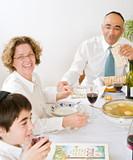 jewish family celebrating passover - Fine Art prints