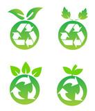 Environmental conservation symbols poster