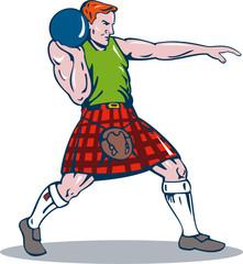Scottish player putting th eshot