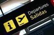Leinwanddruck Bild - salidas departures5