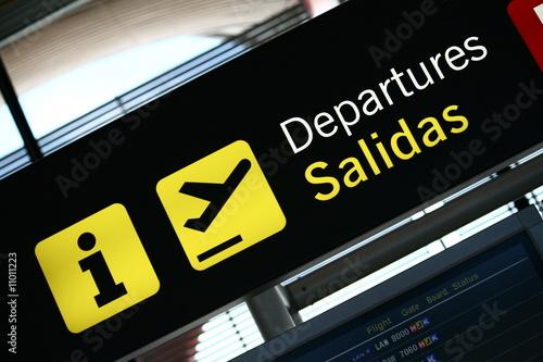 Leinwanddruck Bild salidas departures5