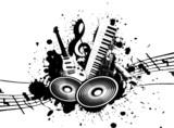 Fototapety Grunge Music