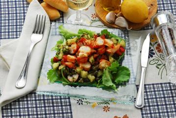 Insalata di astice con verdure - Secondi di pesce del Veneto