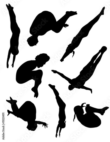 Diving collection vector