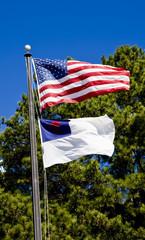 Christian and American Flag