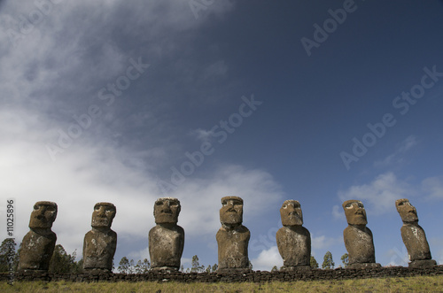 Ahu Akivi in Easter Island