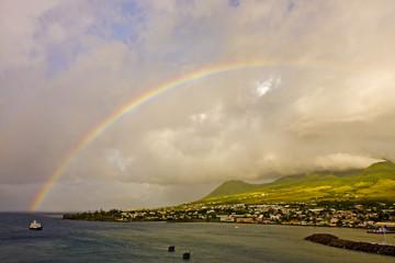 Rainbow Over Island