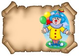 Party invitation with clown poster