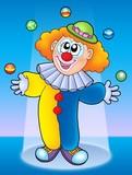 Juggling clown poster