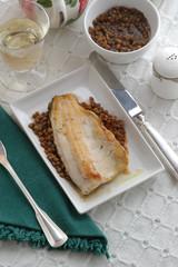 Lucioperca con lenticchie - Secondi del Trentino Alto Adige