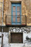 Ugly urban building in Spain poster
