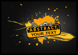 Fototapety Abstract illustration with text. Vector