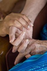 amour avec main