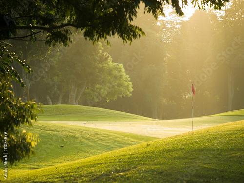 Leinwanddruck Bild Golf Course