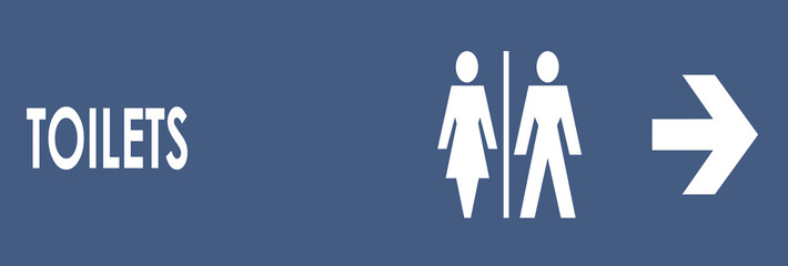 toilet sign (blue)
