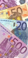 background details four euro banknotes