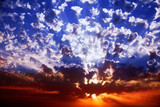 Magnificent sparkling sunset in the spring poster