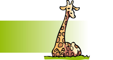 girafe couchee