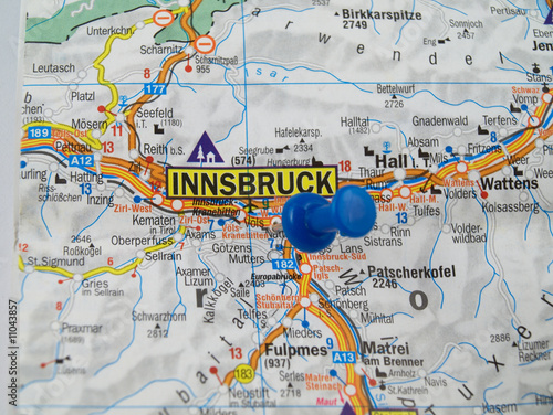 Innsbruck of map