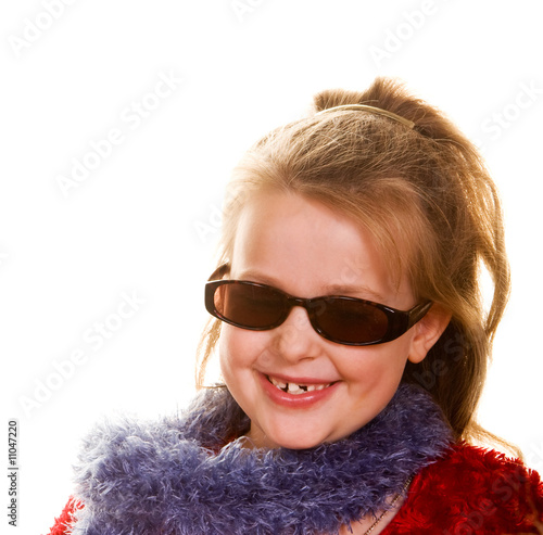 Girl with Sunglasses and Lei