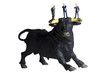 Business figurines placed on a bull figurine