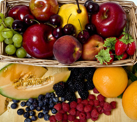A delicious selection of fruit