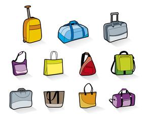 bolsa de viaje, mochila, trolley