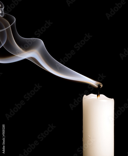 candle with smoke