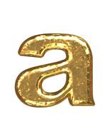 Fototapety Golden font. Letter 'a'.Lower case.