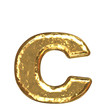 Golden font. Letter 'c'.Lower case.