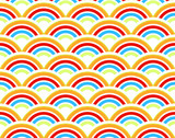 Rainbows seamless pattern
