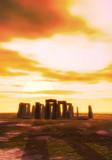 stonehenge tramonto poster