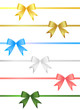 set of ribbon bow vector 2