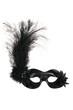 Black Venetian Carnival Mask