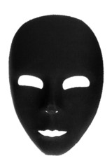 Eerie Black Face Mask