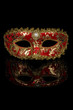 Red Venetian Carnival Mask